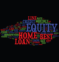 Z best home equity loans text background word vector