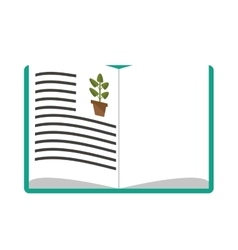 biology book icon vector image