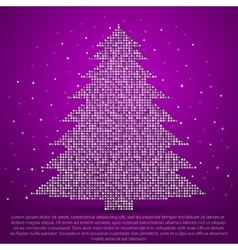 Christmas tree made of sequins vector image