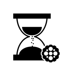 Hourglass and gear icon vector