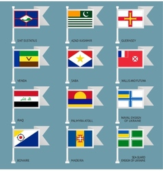 Flags set four-17 vector image
