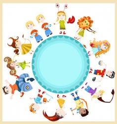 Children horoscope vector