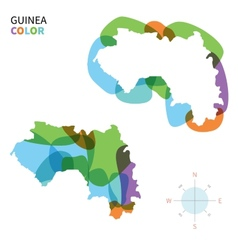 Abstract color map of guinea vector