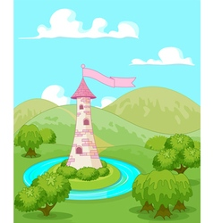 Fairytale tower vector