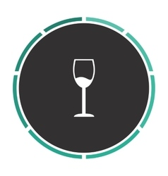 Wineglass computer symbol vector
