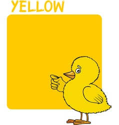Color Yellow and Chick Cartoon vector image