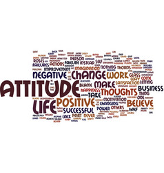 Attitude in business text background word cloud vector