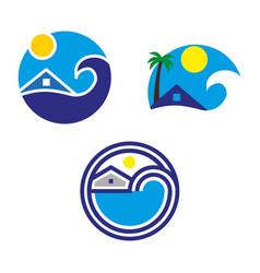 beach3 vector image vector image