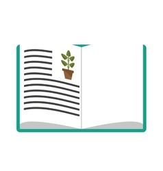 Biology book icon vector