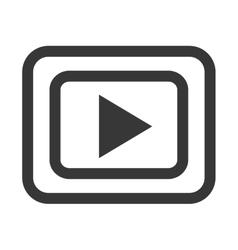 black and white media icon graphic vector image