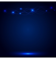 Blue Abstract background with glow lines vector image