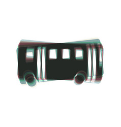 Bus simple sign colorful icon shaked with vector