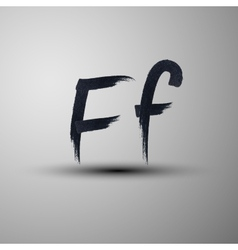Calligraphic hand-drawn marker or ink letter f vector