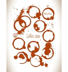 Coffee paint stains splashes isolated on white vector image vector image