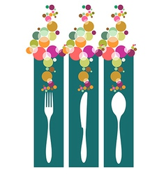 Cutlery contemporary pattern vector image vector image