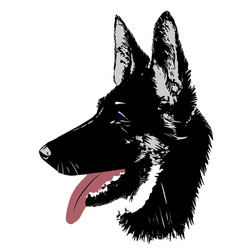dog german shepherd logo head for vector image