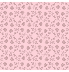 Floral seamless pattern with rose in pastel tones vector image vector image