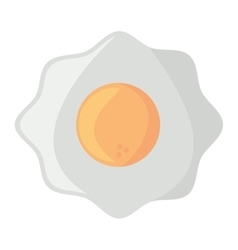fried egg nutrition breakfast design shadow vector image vector image