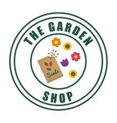 Gardening design Botany icon Flat vector image