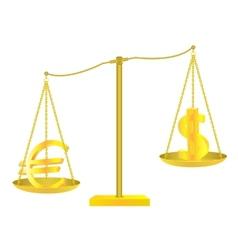 Golden scales vector image vector image