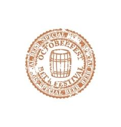 Grunge emblem oktoberfest vector