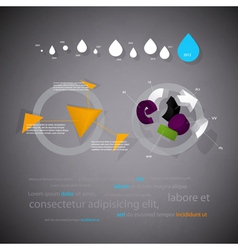 infographics statistical three-dimensional report vector image vector image