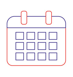 Isolated calendar design vector