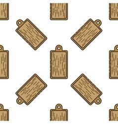 Kitchen flat icon pattern vector image