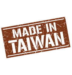 Made in taiwan stamp vector