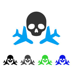 Mortal airplanes flat icon vector