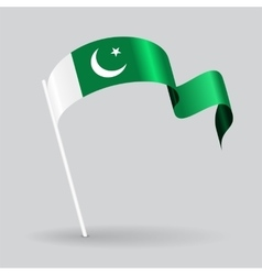 Pakistani wavy flag vector image vector image
