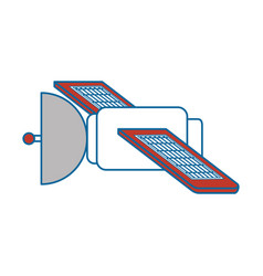 Satellite space isolated icon vector