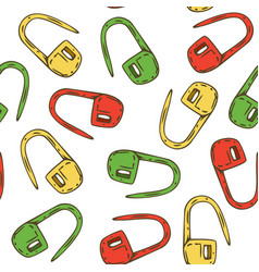 Seamless pattern with locking stitch markers vector