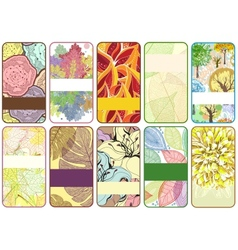 Set of ten colorful autumn cards vector image