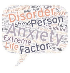 Stress and anxiety 101 what is anxiety text vector