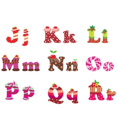 sweet letters of the alphabet vector image vector image