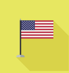 Usa flag icon vector