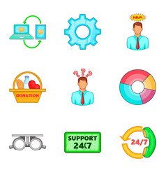 Variant icons set cartoon style vector