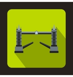 Tower bridge london icon in flat style vector