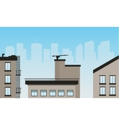 Urban scenery of vector