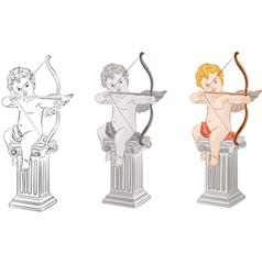 set of cupids vector image