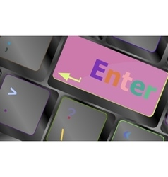 Message on keyboard enter key for online support vector