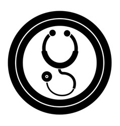 Contour sticker stethoscope medical tool revision vector