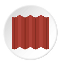Steel colored goffered plate for roof icon circle vector