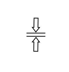 Merge horizontal icon vector