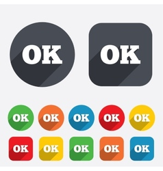 Ok sign icon positive check symbol vector