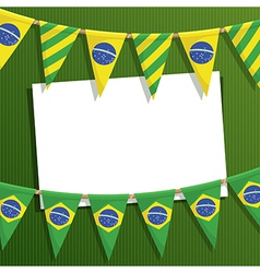 brazil party card vector image