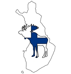 Finnish moose vector
