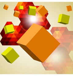 Abstract background of 3d cubes vector