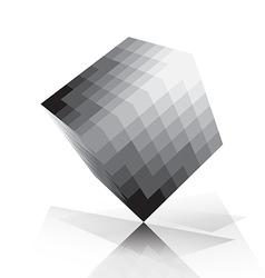 3d cube pixelate style vector